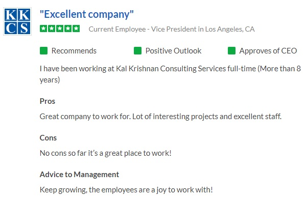 Great company to work for. Lot of interesting projects and excellent staff.